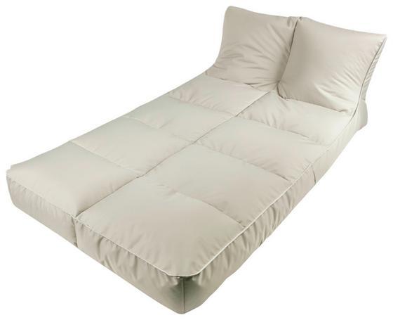 Outdoorsitzsack Relax-Liege 120 cm Taupe - Taupe, KONVENTIONELL, Textil (120/60/200cm)