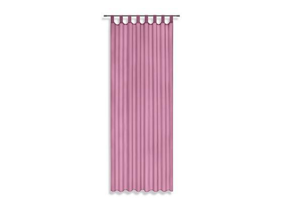 Készfüggöny Utila - Fáradtrózsaszín, konvencionális, Textil (140/245cm) - Luca Bessoni