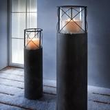 Stojan Na Sviečku Lox Výška 100 Cm - tmavosivá, Moderný, kov (23/100cm)
