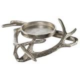 Kerzenhalter 1-flammig - Silberfarben, MODERN, Metall (25/25/7,5cm)