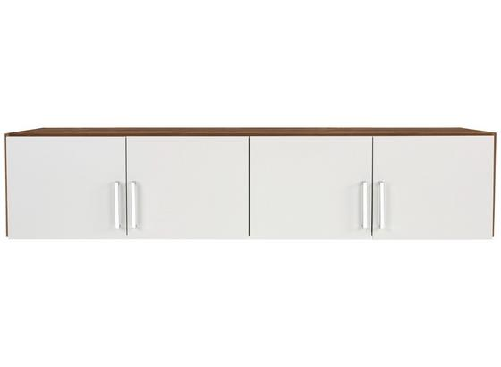 Aufsatzschrank zu Kleiderschrank Wien, 181cm - Eichefarben/Weiß, KONVENTIONELL, Holzwerkstoff (181/39/54cm)