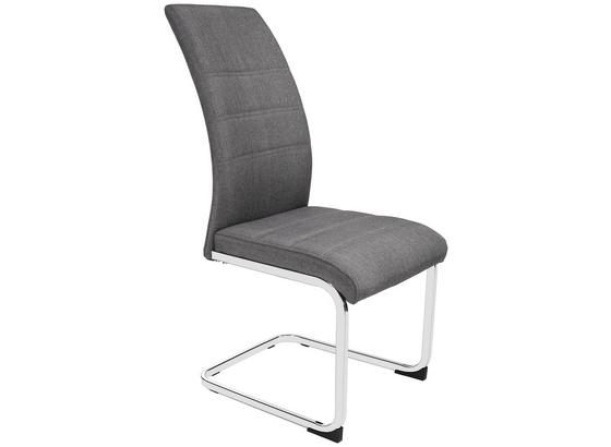 Pohupovací Židle Donna - šedá/barvy chromu, Konvenční, kov/textil (42/99/56cm)