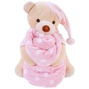 Kuscheldecke mit Teddy - Bella - Rosa, KONVENTIONELL, Textil - Ombra
