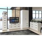 Komoda Adriana 1 Bílá - bílá, Moderní, dřevěný materiál (116/50/40cm)