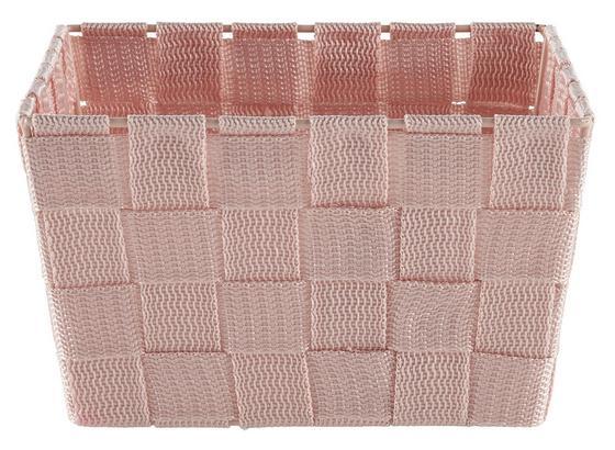 Košík Nelly - ružová, Moderný, plast (19/19/11cm)