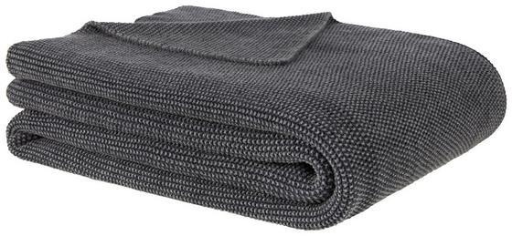 Přehoz Na Postel Aksel - antracitová, Moderní, textil (125/150cm) - Premium Living