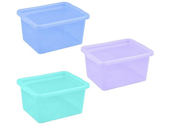 Box S Krytom Bittburg 48l Aqua Mix - lila/svetlomodrá, Konvenčný, plast (60/40/31cm)