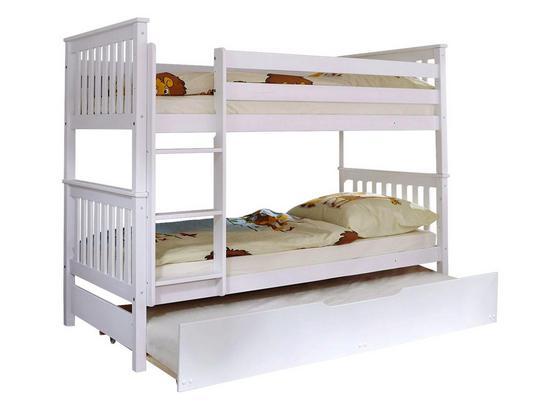 Etagenbett Sammy 90x200 cm Weiß - Weiß, MODERN, Holz (90/200cm) - Livetastic