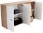 Komoda Graz Xr05 - farby dubu/biela, Moderný, kompozitné drevo (155/82,4/35,5cm)
