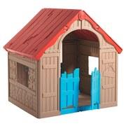 Spielhaus Kunststoff Beige / Rot / Blau Wonderfold - Blau/Beige, Basics, Kunststoff (89,7/110,6/101,8cm)