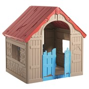 Spielhaus Wonderfold B: 89,7 cm - Blau/Beige, Basics, Kunststoff (89,7/110,6/101,8cm)