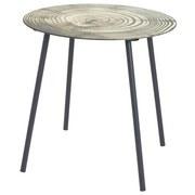 Beistelltisch Ring - Hellbraun/Schwarz, MODERN, Glas/Metall (40/41cm)