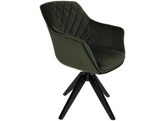 Eleganter Stuhl BELLINI aus grünem Samt