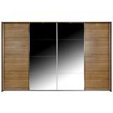 Schwebetürenschrank Bensheim B:316cm Rivera Eiche Dekor - Eichefarben, MODERN, Holzwerkstoff (316/211/62cm) - James Wood