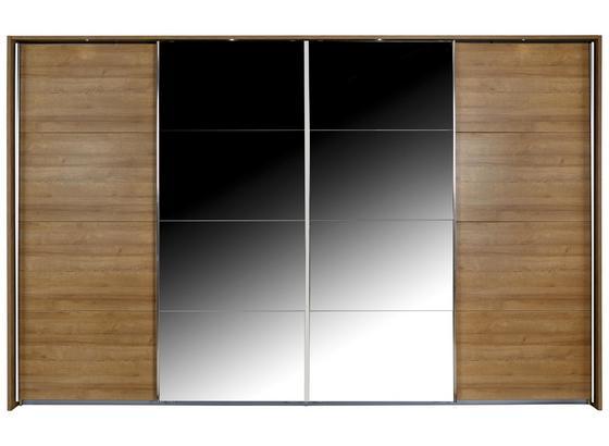 Skriňa S Posuvnými Dverami Bensheim 361x211cm - farby dubu, Moderný, kompozitné drevo (361/211/62cm) - James Wood