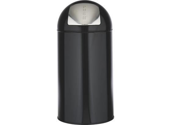 Odpadkový Kôš Push Can - L - čierna/farby zinku, kov (35/76cm) - Mömax modern living
