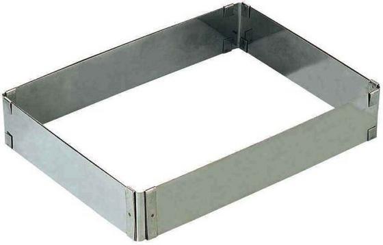 Sütőforma Állítható - ezüst színű, konvencionális, fém (33/53,3cm)