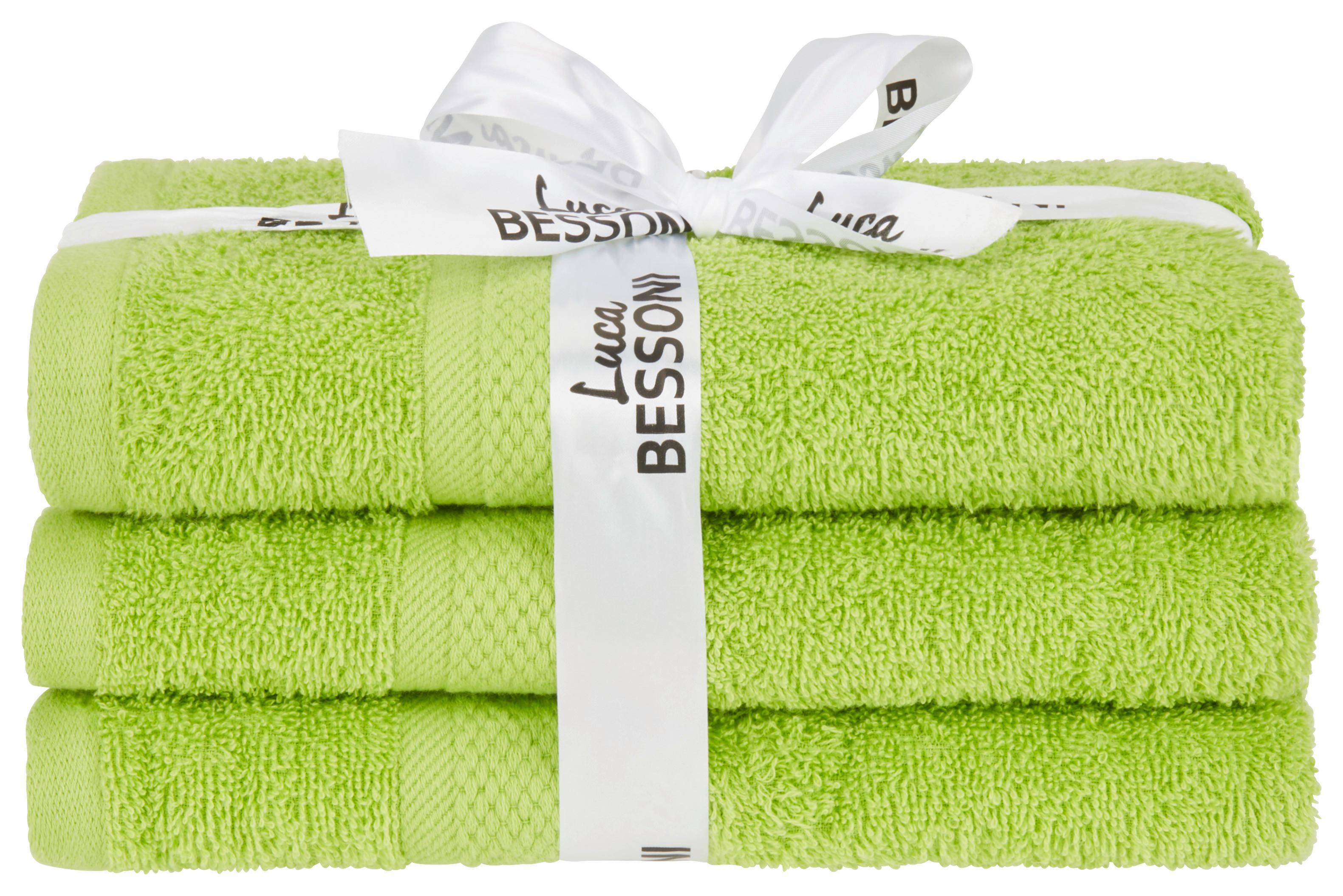 Grüne Handtücher im Set aus 3 Stück