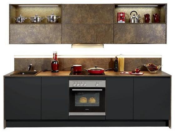 Küchenblock Toledo/ferro 273 cm Schwarz/ferro Bronze - Schwarz/Bronzefarben, MODERN, Holzwerkstoff (273,2cm) - Vertico