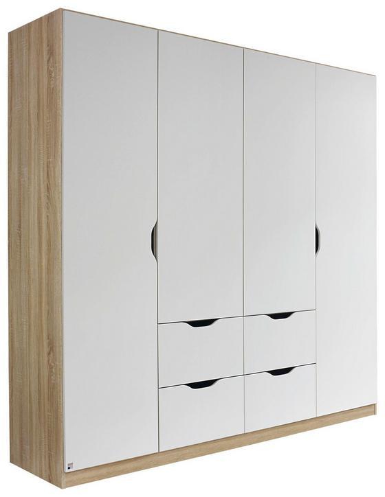 Kombischrank Freising 181 cm Eiche/Weiß - Weiß/Sonoma Eiche, MODERN, Holzwerkstoff (181/197/54cm)