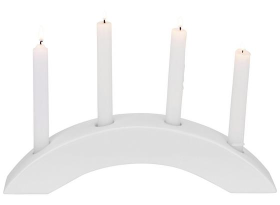 Svietnik Renate - biela, keramika (36,5/6/9,5cm)