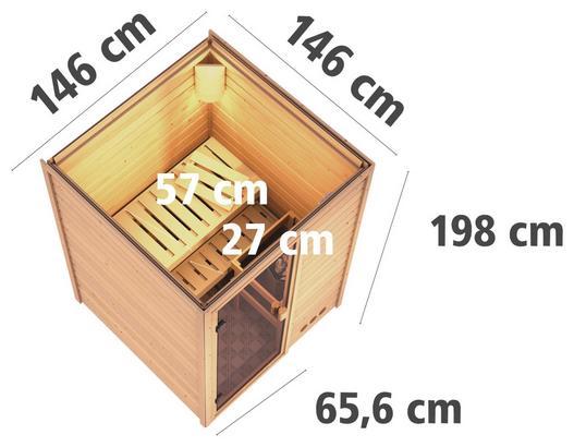 Finnische Sauna aus Fichtenholz