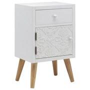 Nočný Stolík Valentina - biela/farby pínie, Moderný, drevený materiál/drevo (40/65,5/30cm) - Modern Living
