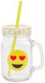 Trinkglas Smiley-serie - Gelb, KONVENTIONELL, Glas/Kunststoff (8/11/14,5cm)