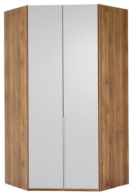 Eckschrank New York A - Eichefarben/Weiß, KONVENTIONELL, Holz/Holzwerkstoff (120/236/120cm) - Ombra