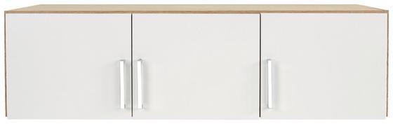 Szekrényrátét 3 Ajtós Wien Szekrényhez - Tölgyfa/Fehér, konvencionális, Faalapú anyag (136/39/54cm)