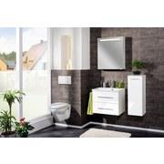 Spiegelschrank mit Türdämpfer + Led B.clever B: 60 cm Weiß - Weiß, MODERN, Glas/Holzwerkstoff (60/71/16cm) - Fackelmann
