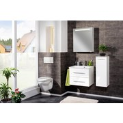 Waschtischkombi mit Soft-Close B.clever B: 60cm Weiß - Weiß, MODERN, Holzwerkstoff/Kunststoff (60/51/46cm) - Fackelmann