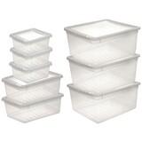 Aufbewahrungsboxen-Set Bea - Transparent, Kunststoff