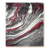 Webteppich Line - Rot, Basics, Textil (80/150cm) - Ombra