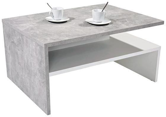 Konferenční Stolek Laura - bílá/šedá, Moderní, dřevěný materiál (90/42/60cm)