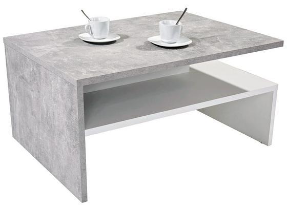 Konferenčný Stolík Laura - sivá/biela, Moderný, kompozitné drevo (90/42/60cm)
