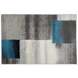Webteppich Grau / Beige / Blau Florence 160x230 cm - Beige/Schwarz, KONVENTIONELL, Textil (160/230cm) - Ombra