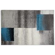 Webteppich Grau / Beige / Blau / Schwarz Florence 120x170 cm - Beige/Schwarz, KONVENTIONELL, Textil (120/170cm) - Ombra