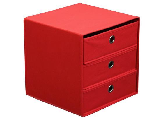 Zásuvkový Box Lisa - červená, Moderný, kartón/kov (32/32/32cm)