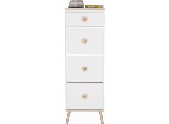 Komoda Billund - farby dubu/biela, Moderný, drevo/kompozitné drevo (46/121/40cm) - Modern Living