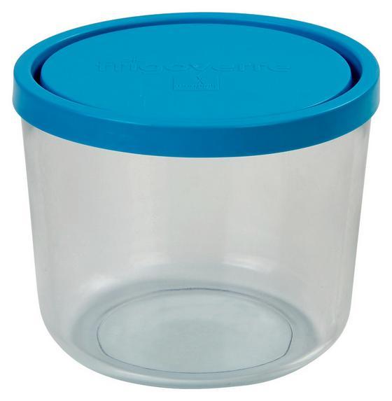 Vorratsdose Lida 0,70 Liter - Blau/Klar, KONVENTIONELL, Glas/Kunststoff (12/9,9cm)