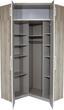 Rohová Skříň Wien - bílá/barvy dubu, Konvenční, kompozitní dřevo (117/212cm)