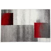 Webteppich Beige / Grau / Rot / Schwarz Florence 160x230 cm - Beige/Rot, KONVENTIONELL, Textil (160/230cm) - Ombra