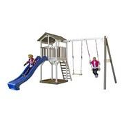 Spielhaus Sunny Beach Tower Ds - Blau/Weiß, MODERN, Holz (349/242/350cm)