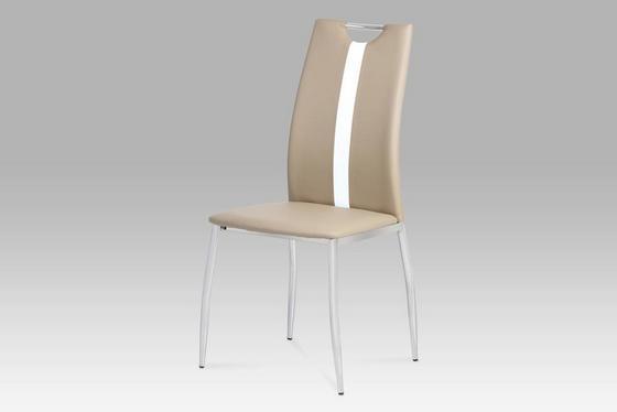 Stolička Viki - svetlohnedá, Moderný, umelá hmota/kov (44/97/41cm)