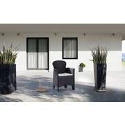 Gartenstuhl Folia - Anthrazit/Beige, MODERN, Kunststoff (59/85,5/57cm) - Ombra