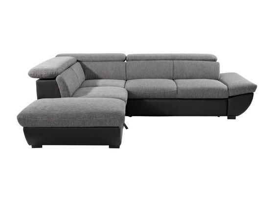 Sedacia Súprava Chance - čierna/sivá, Moderný, textil (228/270cm)