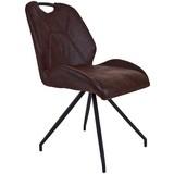 Stuhl Caren - Schwarz/Braun, MODERN, Textil/Metall (50/86/61cm)