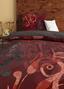Renforcé-bettwäsche Melizia In Grau und Rot - Bordeaux/Grau, ROMANTIK / LANDHAUS, Textil - James Wood