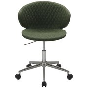 Otočná Stolička Stella - zelená/chrómová, Štýlový, kov/textil (56/73-82,5/53cm) - Modern Living